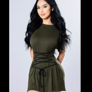 All The Way Up Tunic - Olive XS